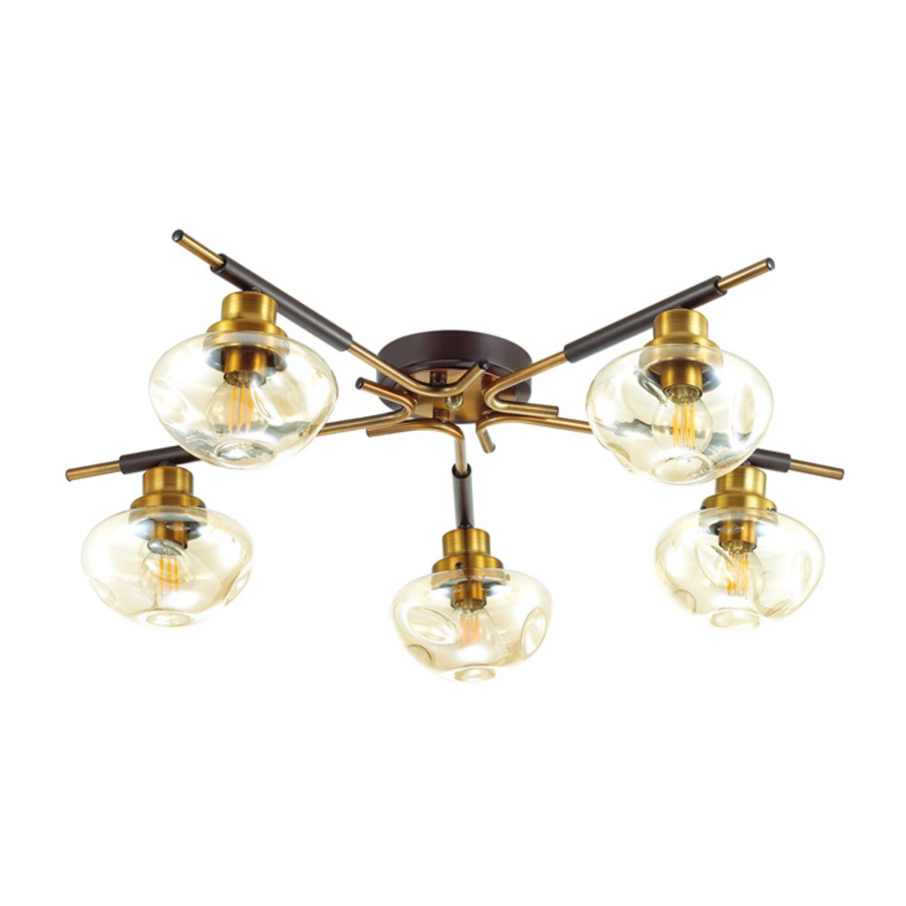 4405/5C MODERNI LN19 64 коричневый, золотой Люстра потолочная E14 5*40W 220V YOSHI
