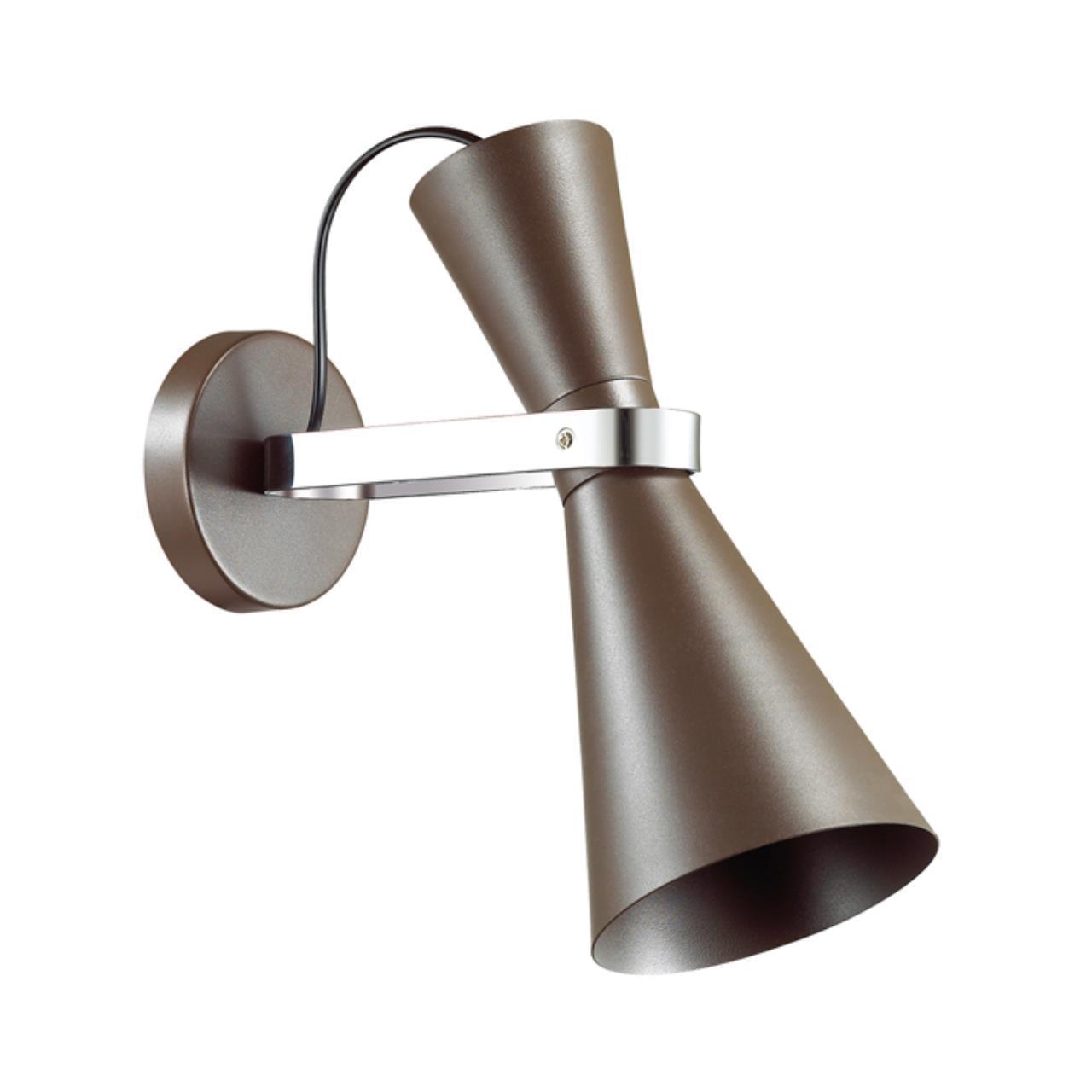 4417/1W MODERNI LN19 63 хром, коричневый Бра E27 1*60W 220V QUINN