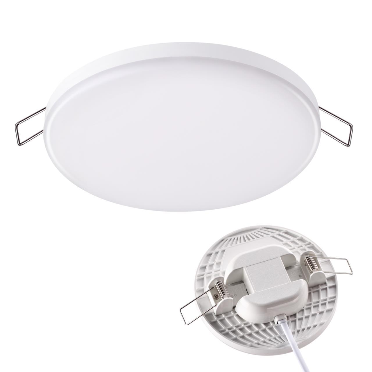 358141 SPOT NT19 078 белый Встраиваемый светильник IP20 LED 3000K 12W 85 - 265V MOON
