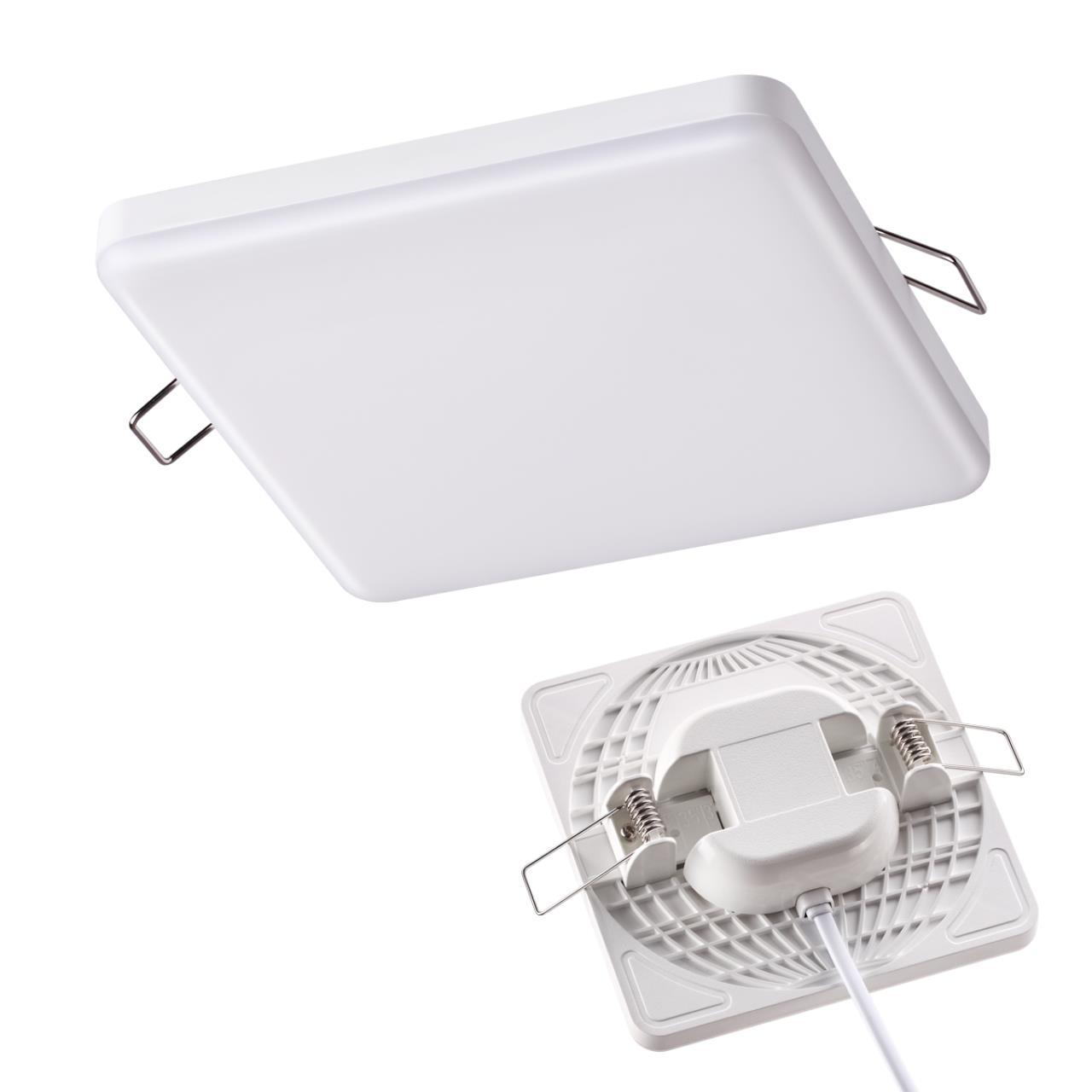 358147 SPOT NT19 078 белый Встраиваемый светильник IP20 LED 3000K 12W 85 - 265V MOON