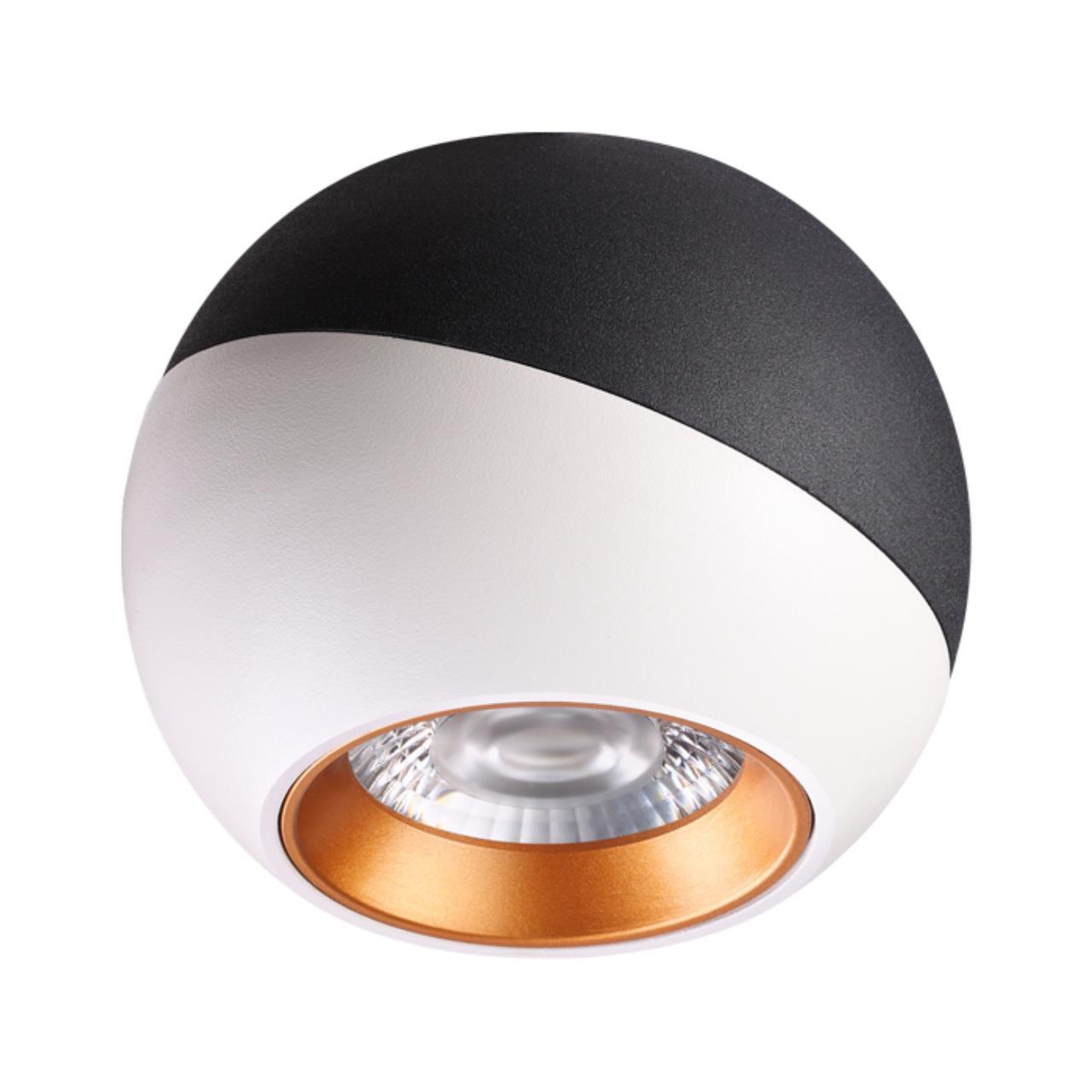 358156 OVER NT19 024 черный/белый/золото Накладной светильник IP20 LED 4000K 6W 220V BALL