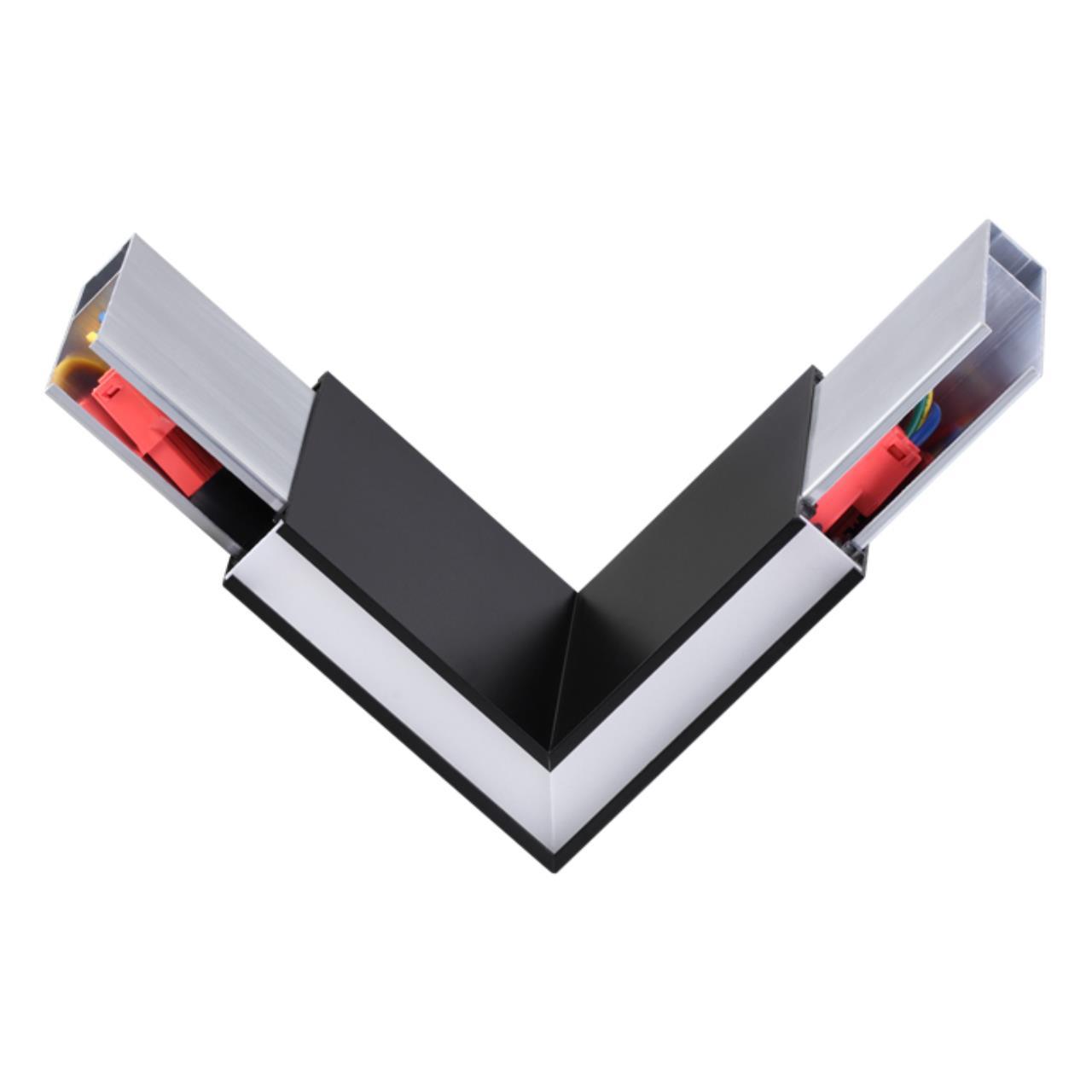 135077 OVER NT19 050 черный Соединитель угловой токопроводящий IP20 LED 4000K 3W 220-240V ITER