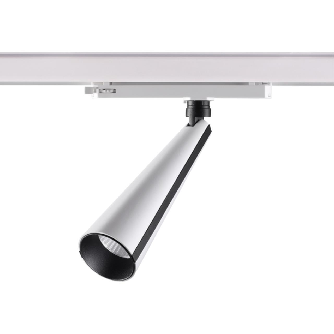 358173 PORT NT19 020 белый/черный Трехфазный трековый светодиодный светильник IP20 LED 4000K 20W