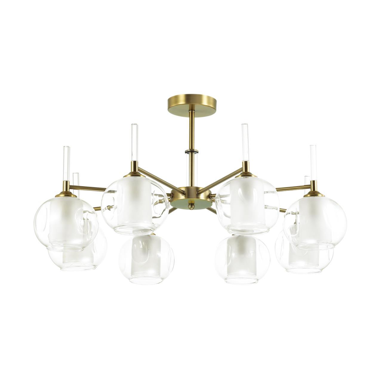 4432/8C MODERNI LN20 151 античный коричневый, стекло Люстра потолочная E14 8*40W 220V HAZEL