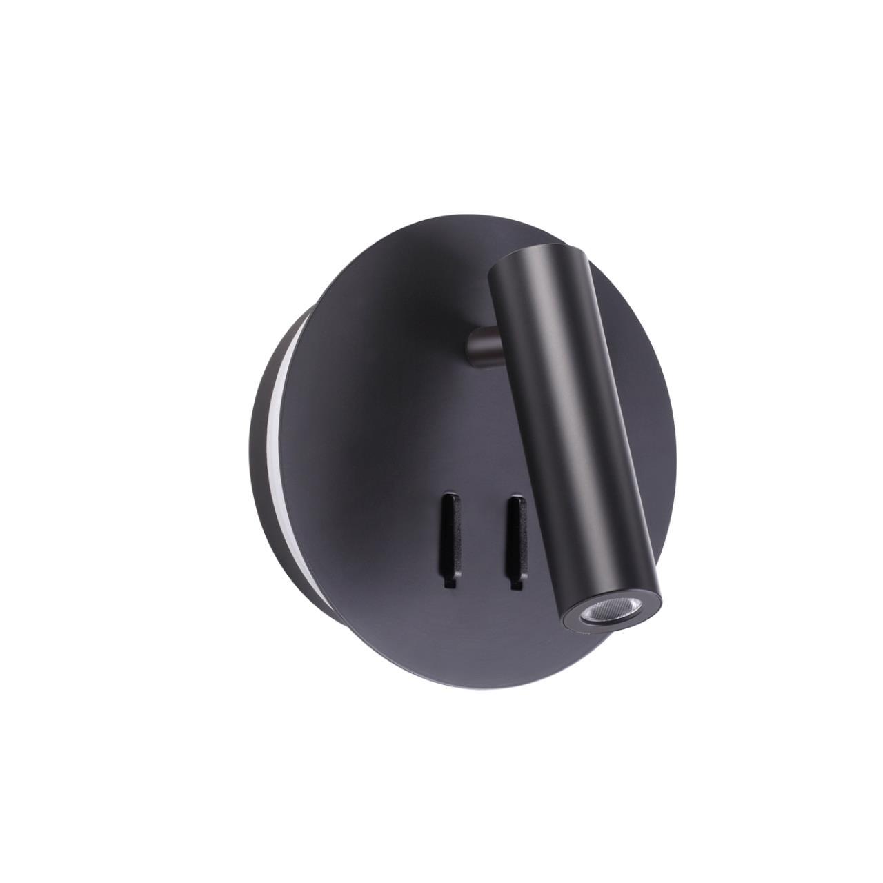 3911/9WL HIGHTECH ODL20 243 черный/металл Наст-й свет-к с лампой д/чтения с выкл LED 9W 3000K 220V B