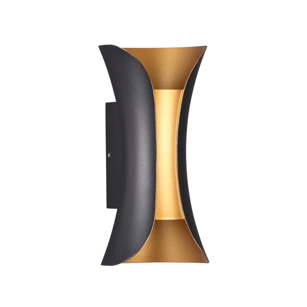 3886/6BG HIGHTECH ODL20 177 черный/золотистый/металл Настенный светильник LED 4000K 6W 220V IP54 KRI