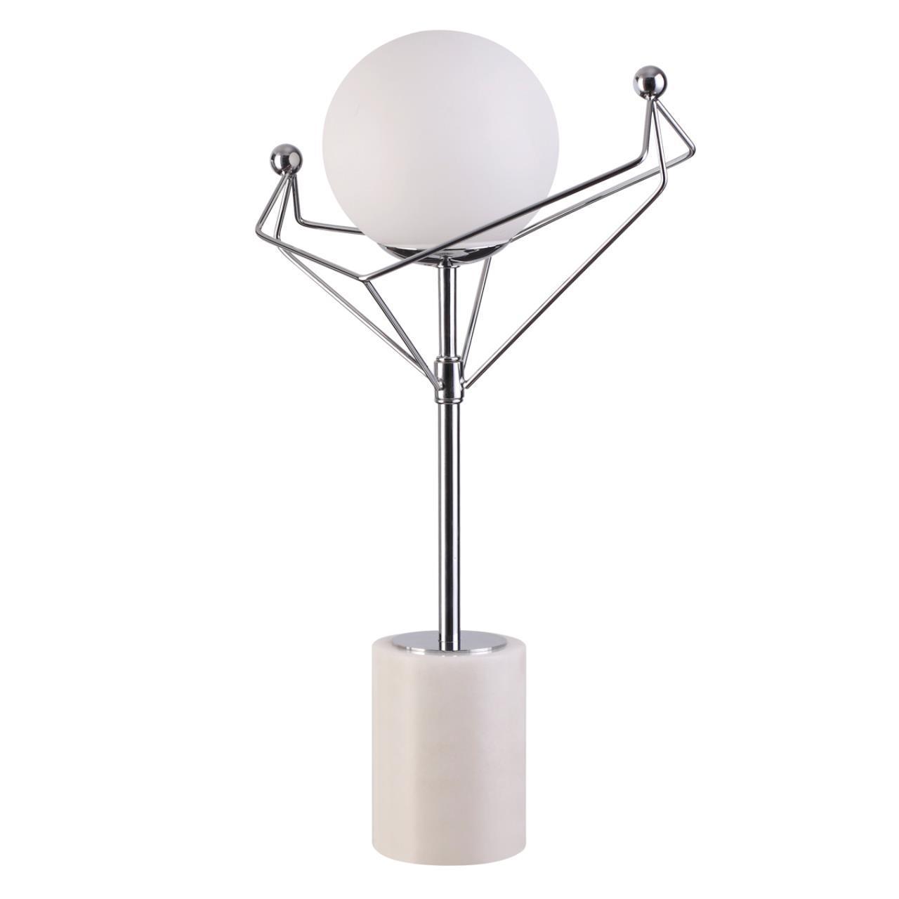 4467/1T MODERNI LN20 55 хром, белый Настольная лампа E14 1*40W 220V KENNEDY