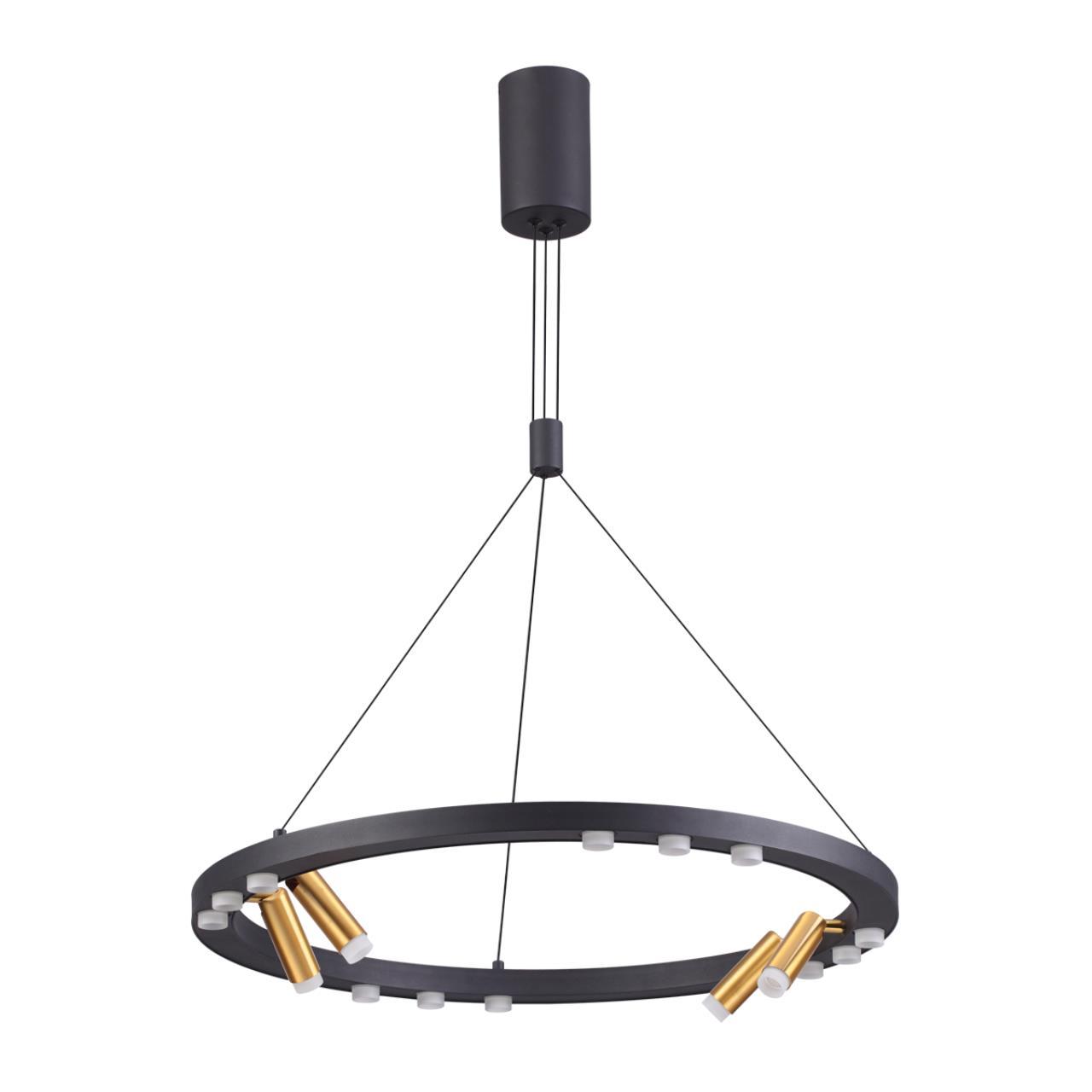 3918/48L L-VISION ODL20 39 черный/золотистый/металл Подвесной светильник LED 48W 4000K BEVEREN
