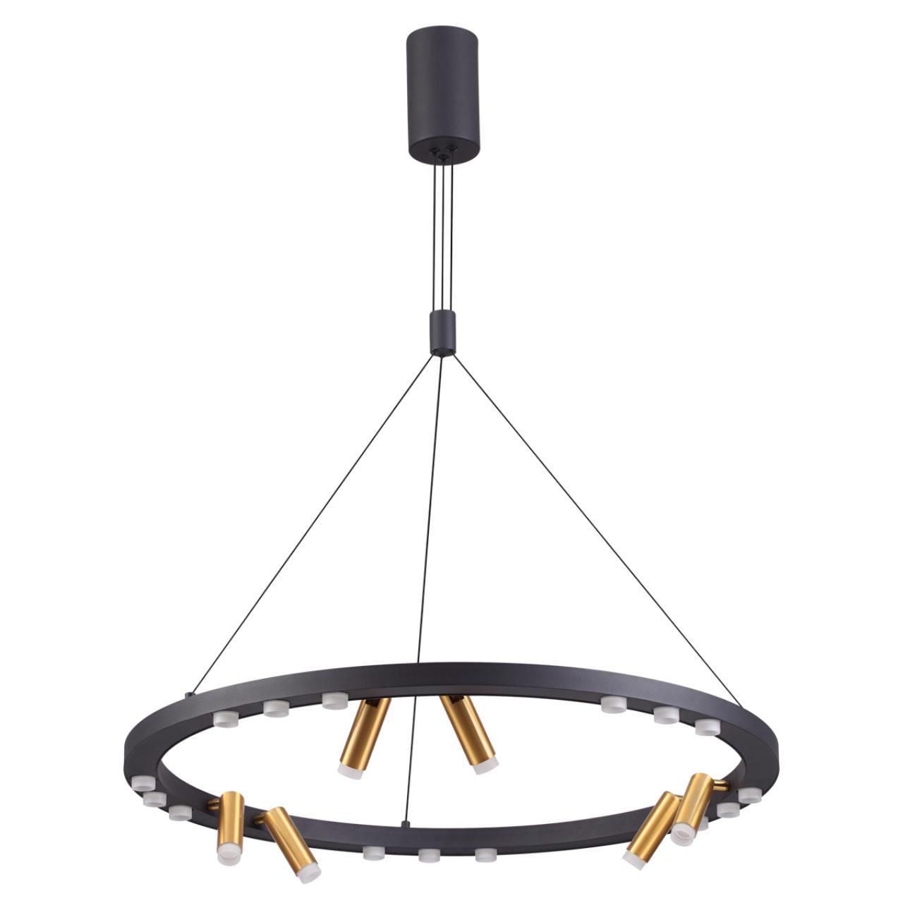 3918/63L L-VISION ODL20 38 черный/золотистый/металл Подвесной светильник LED 63W 4000K BEVEREN