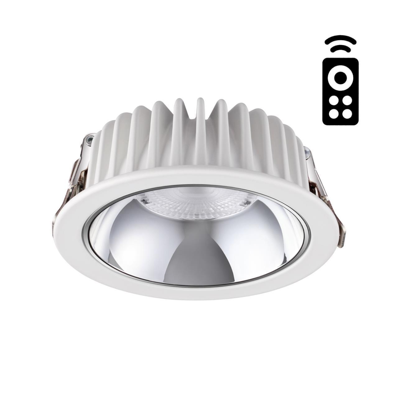 358296 SPOT NT19 000 белый Встраиваемый диммируемый светильник с пультом ДУ IP20 LED 3000-6500K 7W