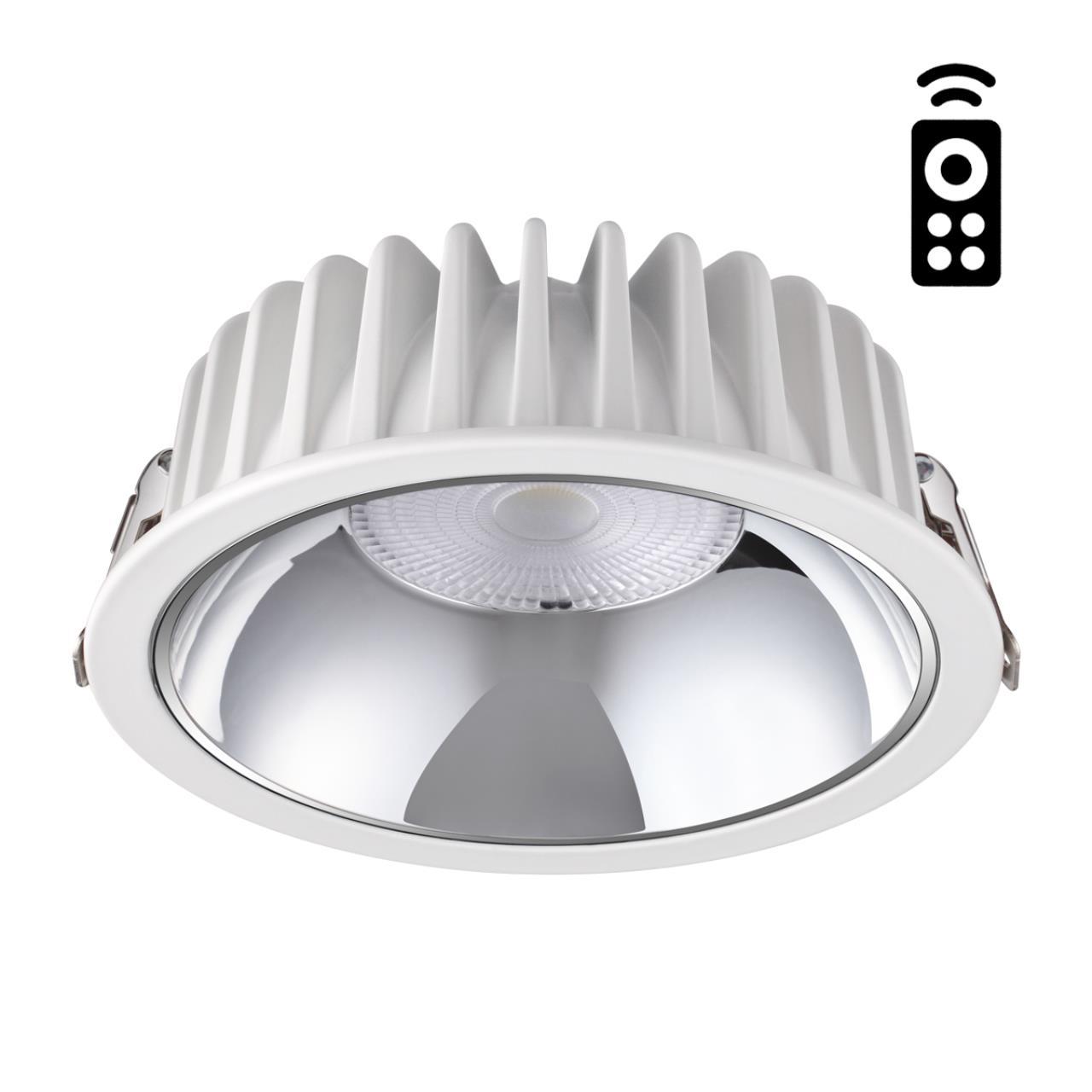358298 SPOT NT19 000 белый Встраиваемый диммируемый светильник с пультом ДУ IP20 LED 3000-6500K 20W