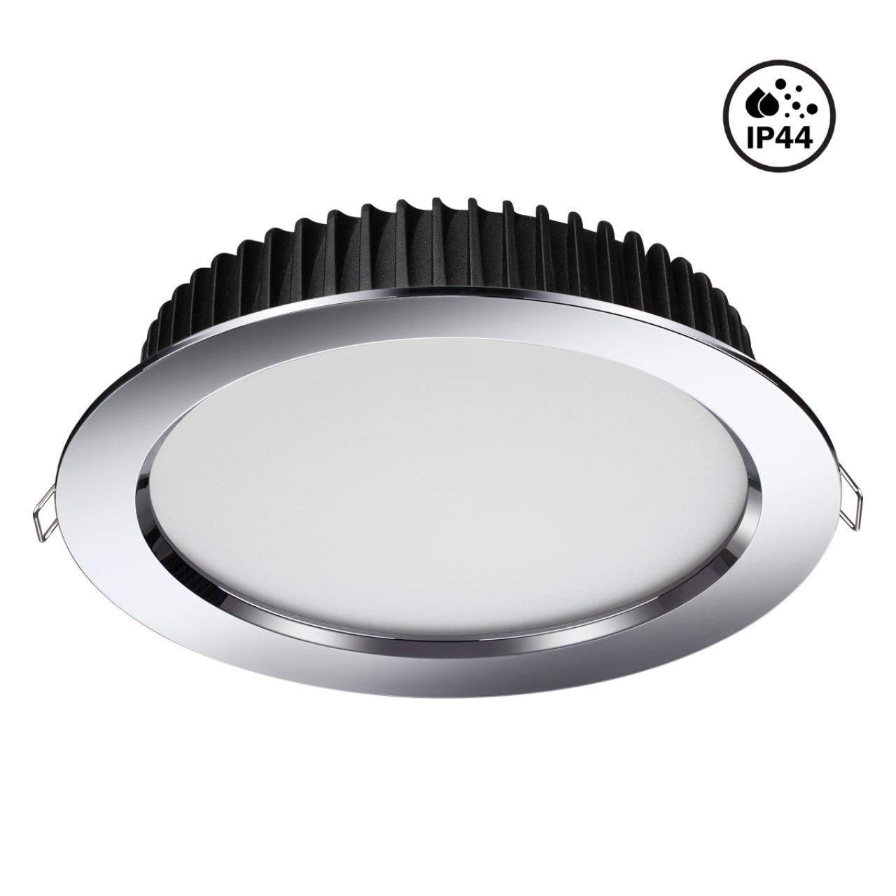 358305 SPOT NT19 000 хром Встраиваемый св-к (драйвер в комплект не входит) IP44 LED3000K 20W 85-265V