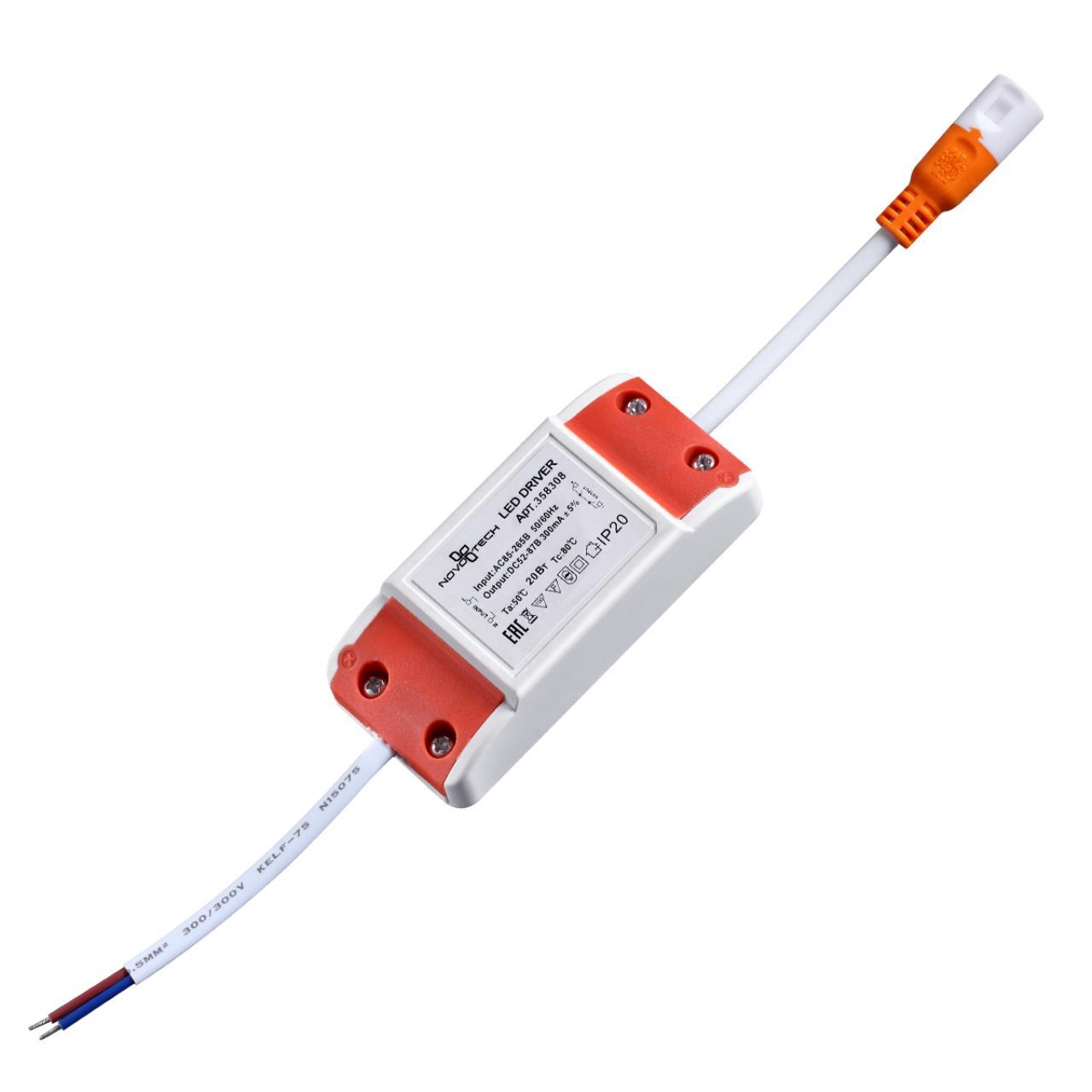 358308 DRIVE NT19 000 Драйвер для арт. 358304-358307 IP20 20W