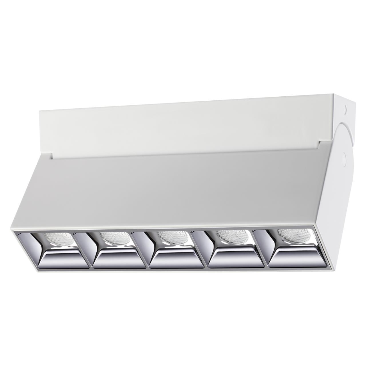 358320 OVER NT19 000 белый Светильник накладной IP33 LED 4000К 25W 110-265V EOS