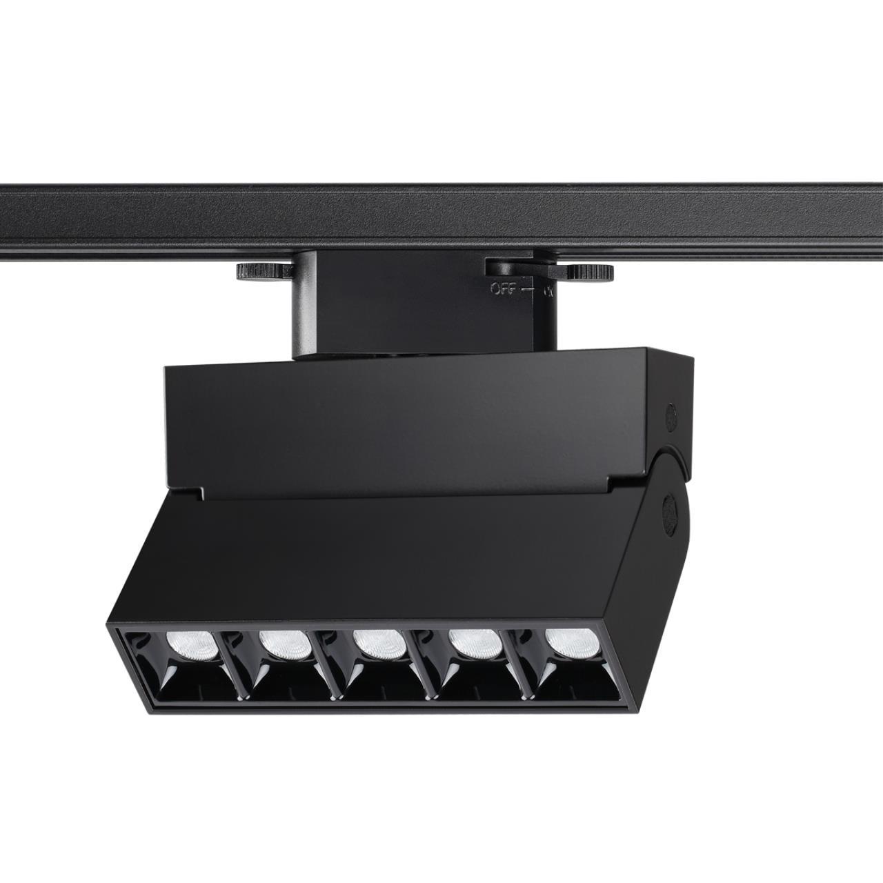 358325 PORT NT19 000 черный Однофазный трековый светильник IP33 LED 4000К 13W 110-265V EOS
