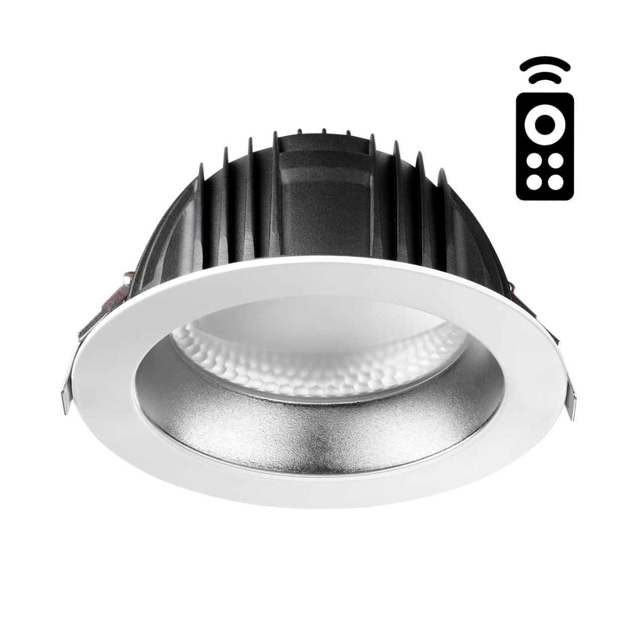 358335 SPOT NT19 000 белый/серебро Встраиваемый диммируемый св-к с пультом ДУ IP20 LED 2700~5000К