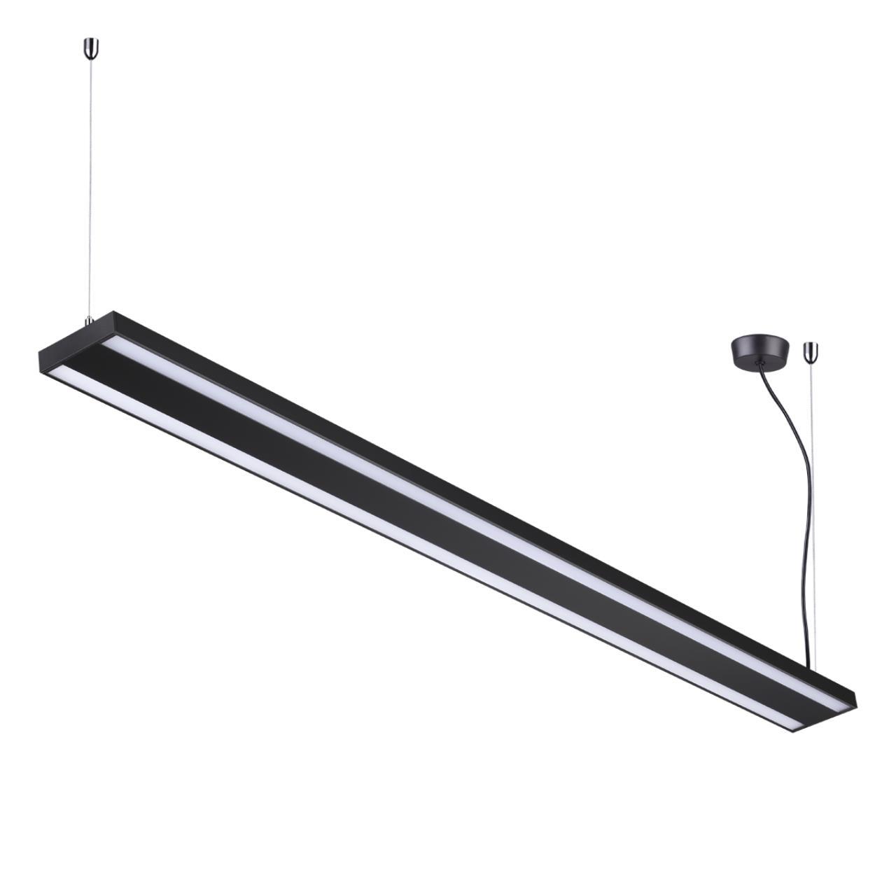 358446 OVER NT20 000 черный Подвесной светильник IP20 LED 40W вниз + 20W вверх 100-277V ITER