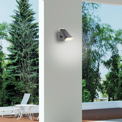 357828 STREET NT18 154 темно-серый Ландшафтный настенный светильник LED 3000К 12W 220-240V KAIMAS