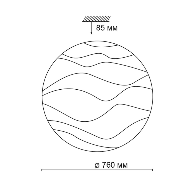 2090/ML SN 083 св-к ERICA пластик LED 160Вт 4000-6500-3000К D760 IP43 пульт ДУ