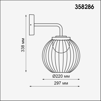 358286 STREET NT19 000 темно-серый Ландшафтный настенный светильник IP65 LED 4000K 7W 220-240V CARRE