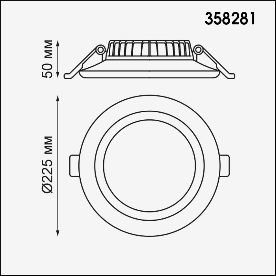 358281 SPOT NT19 000 белый Встраиваемый светильник IP20 LED 4000K 32W 85-265V JOIA