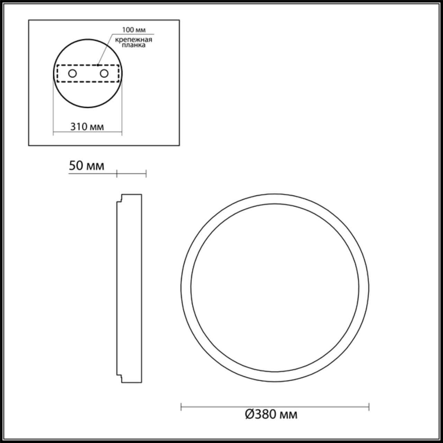 4626/48CL L-VISION ODL19 113 серебристый/белый Потолочный светильник LED 48W SELENA