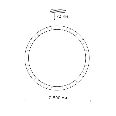 2036/EL SN 072 св-к BRISA пластик LED 72Вт 3000-6000K D500 IP43 пульт ДУ