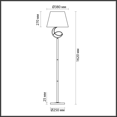 Торшер LUMION FLEUR 4541/1F