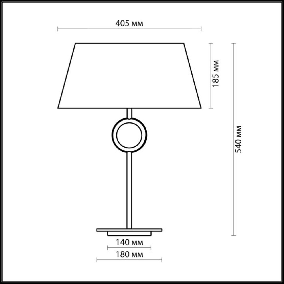 2195/1T MODERN ODL12 345 хром/абажур/бежевый Н/лампа E27 60W 220V HOTEL