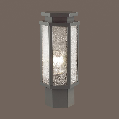 4048/1B NATURE ODL18 704 темно-серый/белый Уличный светильник на столб IP44 E27 100W 220V GINO
