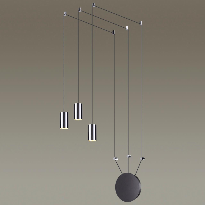 3897/3 L-VISION ODL20 43 черный/хром/металл Наклад. св-к GU10 50W*3 (провод 7м, 10 крепл. в компл-те