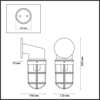 4127/1W WALLI ODL19 627 бронзовый Настенный светильник Е27 1*60W LOFI