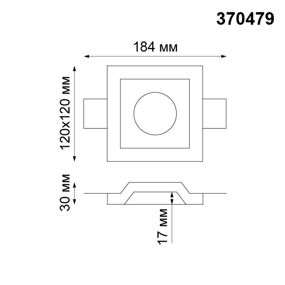 370479 SPOT NT19 042 белый Встраиваемый под покраску светильник IP20 GU10 50W 220V YESO
