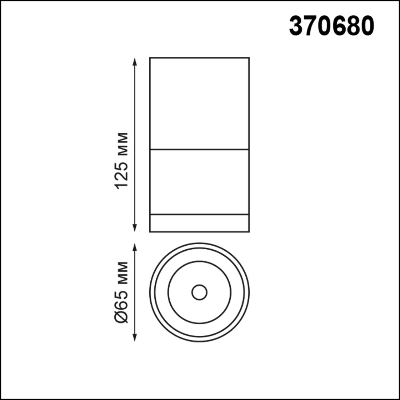 370680 OVER NT19 000 черный Светильник накладной IP20 GU10 9W 220-240V ELINA