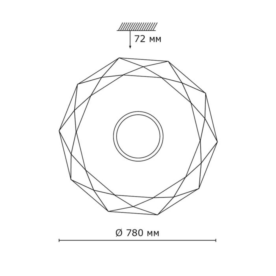 2057/ML SN 084 св-к PRISA пластик LED 160Вт 4000-6500-3000K D780 IP43 пульт ДУ