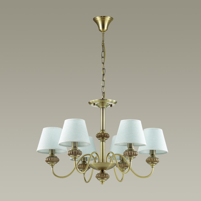 4430/6 CLASSI LN20 222 античная бронза, голубой, керамический декор Люстра E14 6*40W 220V MATILDA