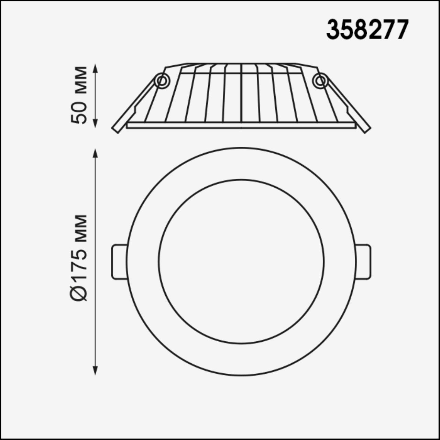 358277 SPOT NT19 000 белый Встраиваемый светильник IP20 LED 4000K 20W 100-240V GESSO