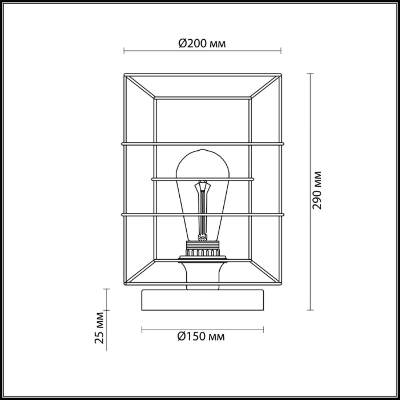 4410/1T LOFTI LN19 134 черный, золотой Настольная лампа E27 1*60W 220V RUPERT