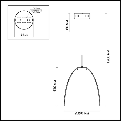4102/99CL L-VISION ODL19 66 хром Люстра потолочная LED 100W CALVADA