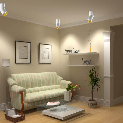 357540 OVER NT18 055 белый/золото Накладной светильник IP20 LED 3000K 23W 110-240V UNION