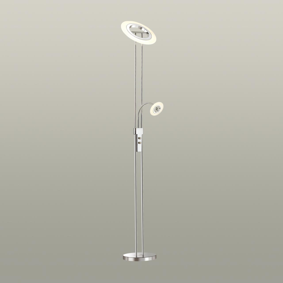 4677/24FL STANDING ODL20 667 хром/белый Торшер LED 3000K 24W 220V SALUT