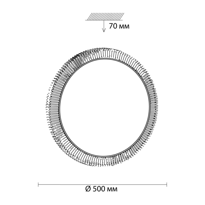 3033/EL SN 025 св-к LERBA BROWN пластик LED 72Вт 3000-6000K D500 IP43 пульт ДУ