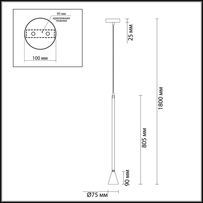 3884/1G HIGHTECH ODL20 213 золотистый/металл Подвесной светильник GU10 50W 220V PIPA