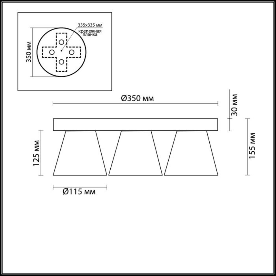 3621/24CL LEDIO LN18 30 хром Люстра потолочная LED 4000K 1920Лм 4*6W 220V GERANA