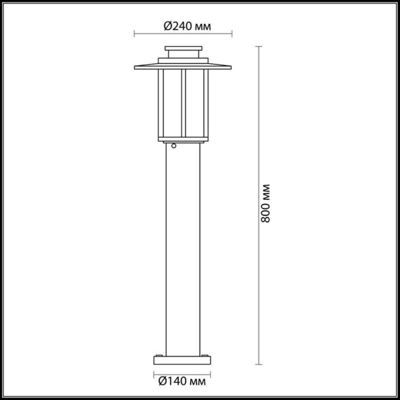 4047/1F NATURE ODL18 702 опал/темно-серый Уличный светильник, 80см IP54 E27 18W 220V MITO