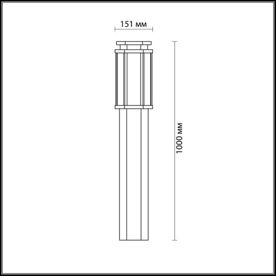 4048/1F NATURE ODL18 704 темно-серый/белый Уличный светильник, 100см IP44 E27 100W 220V GINO