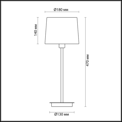 4114/1T MODERN ODL19 309 хром/белый Настольная лампа E27 1*60W EDIS