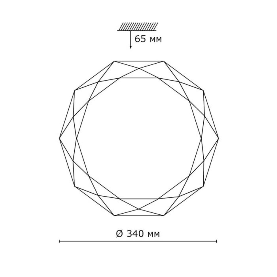 2012/CL SN 055 св-к TORA пластик LED 30Вт 4000K D340 IP43
