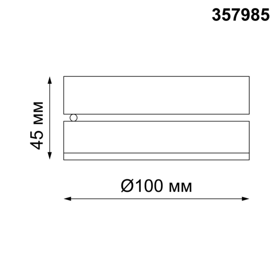 357985 OVER NT19 077 черный Накладной светильник IP20 LED 3000К 12W 220V GRODA