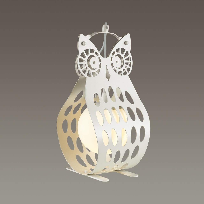 4006/1T PENDANT ODL18 398 белый/стекло Настольная лампа IP20 E27 60W 200V ULVIN
